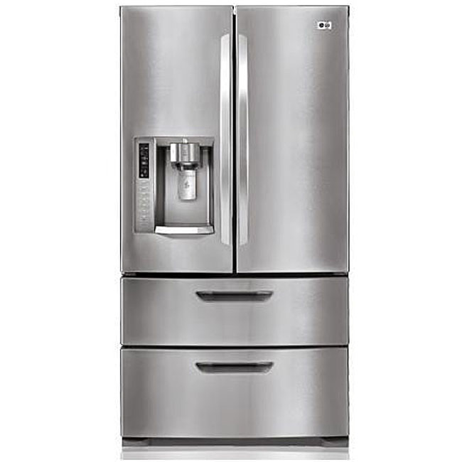 28 Cubic Foot Stainless Steel French Door Refrigerator
