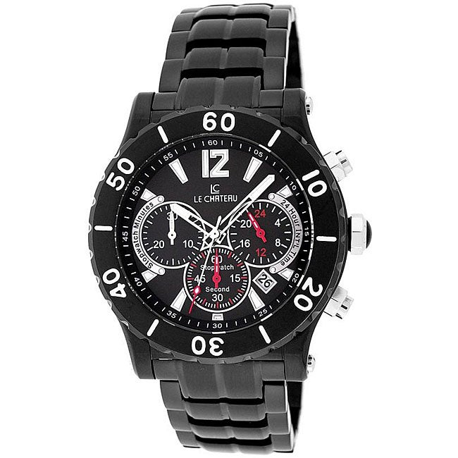 Le Chateau Dinamica Men's Black Ion-plated Sport Watch