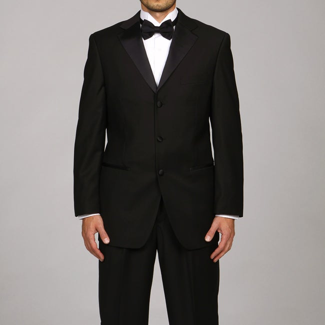 Caravelli Italy Men's Black Three Button Tuxedo FINAL SALE