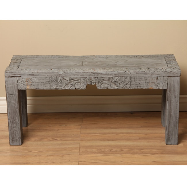 Reclaimed Wood Grey Coffee Table (India)