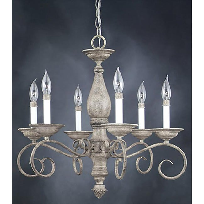 AT HOME by O Monterrey 6-light Fresco Stone Chandelier at Sears.com