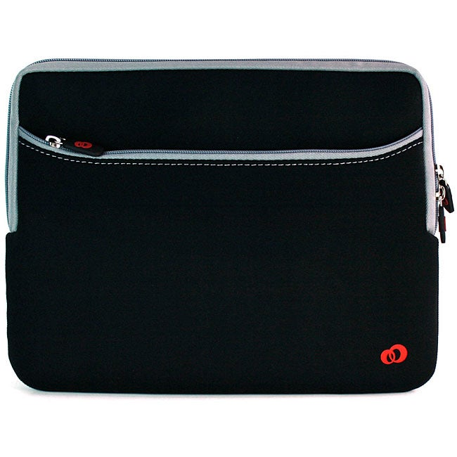 Kroo Black 12-inch Laptop Sleeve