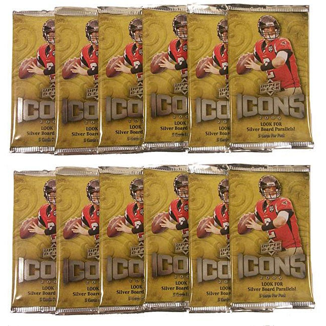 NFL Upper Deck Icons 2009 Trading Card Packs (Box of 12)