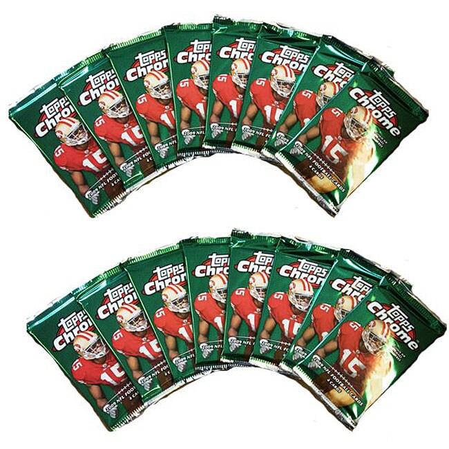 NFL 2009 Topps Chrome Trading Card Packs (Box of 16 Packs)