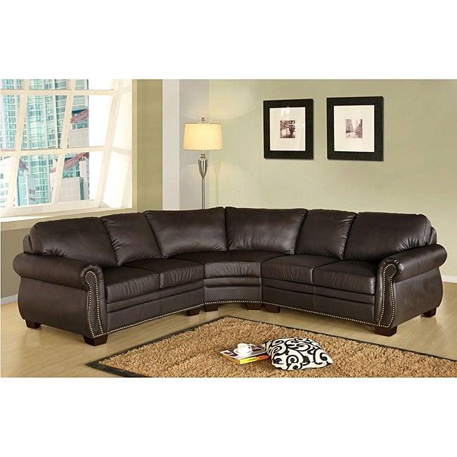 Italian Leather Sectional Sofas: Bentley Italian Leather Sectional Sofa