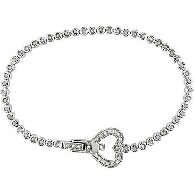 Sterling Silver 1ct TDW Diamond Tennis Bracelet (I-J, I3)