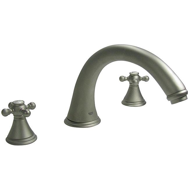 Grohe 39 Geneva 39 Cross Handle Satin Nickel Roman Tub Faucet 12606645 Shopping