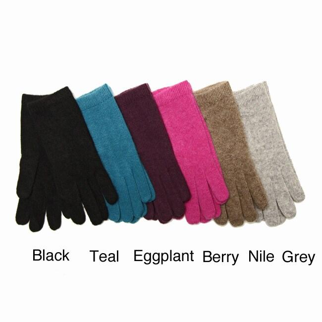Portolano Women's 10-inch Cashmere Gloves