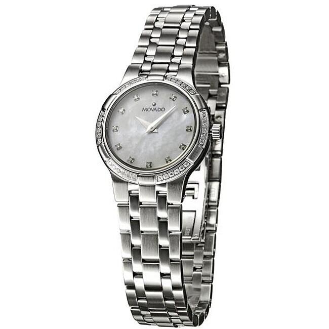 Movado Women's Metio Stainless Steel Diamond Watch