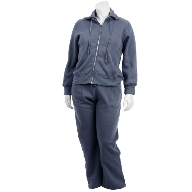 Baccini Women's Plus Size Fleece Jacket and Pants
