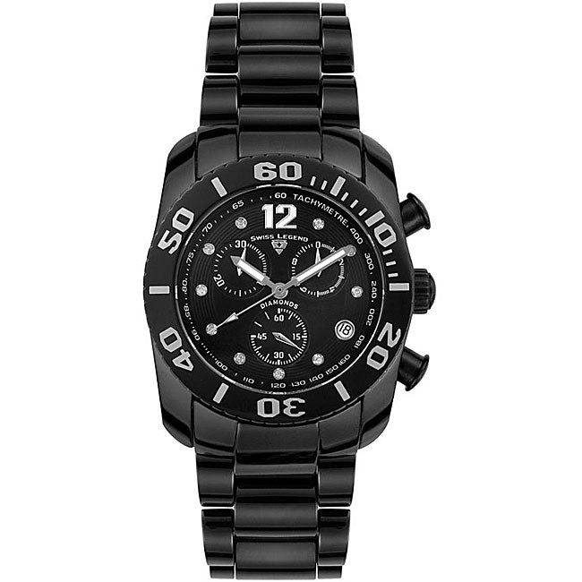 Swiss Legend Men's Chronograph Ceramic Diamond Watch