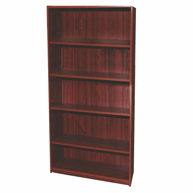 Mahogany Finish 5-tier Bookcase