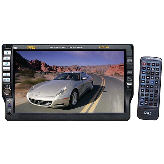 Pyle PLD71MU Touch Screen DVD/CD/MP3/CD-R/USB/AM/FM/RDS Receiver