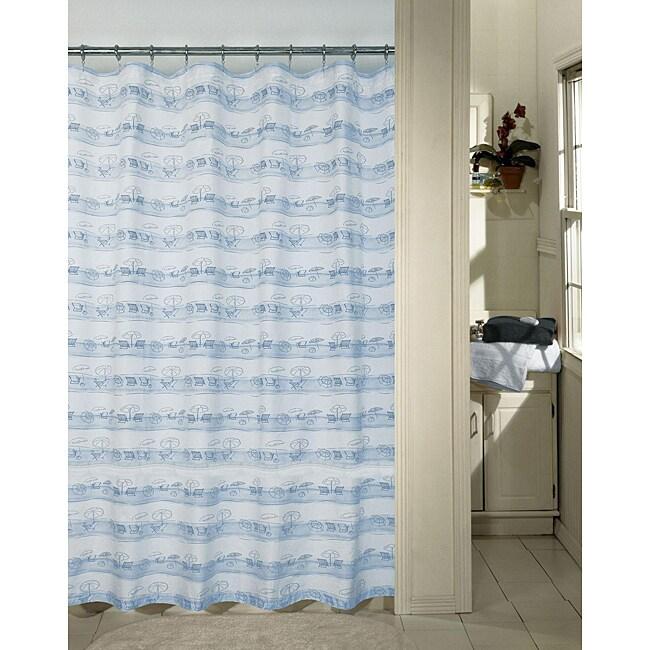 blue beach shower curtain 12629633 shopping great