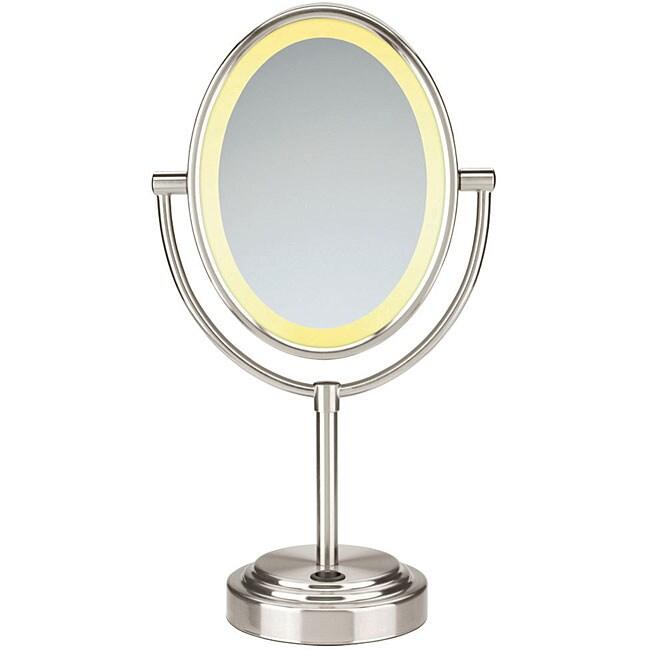 Conair BE47SN Oval Double-sided 1x-7x Illuminated Mirror