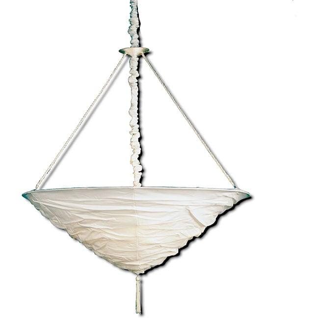 White 1-light Venetian Pendant
