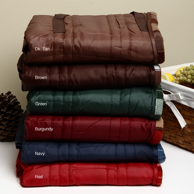 Reversible Water Resistant Quilted Outdoor Blanket