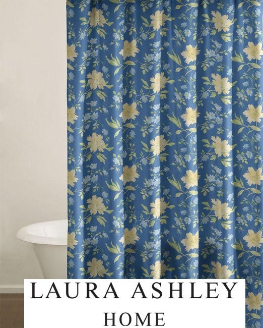 laura ashley emilie cotton shower curtain 12642794. Black Bedroom Furniture Sets. Home Design Ideas