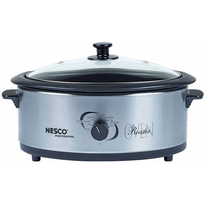 Nesco 4816-25-30PR Stainless Steel 6-quart Electric Roaster