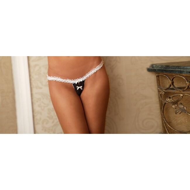 JLT Crotchless Pinstripe Panty