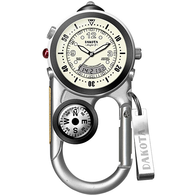 Dakota Men's 'Angler II' Analog/ Digital Carabiner Watch
