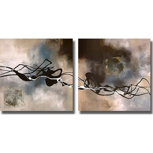 Laurie Maitland 'Watery Hollow I & II' 2-piece Unframed Canvas Art Set