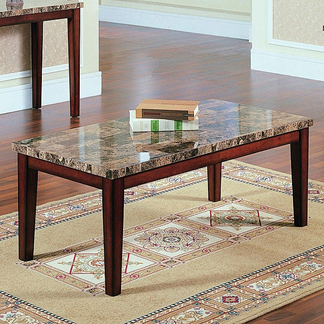 Creston Faux Marble Cocktail Table