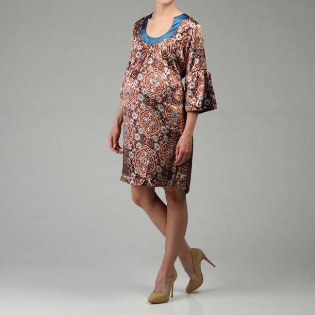Everly Grey Women's Sonya Maternity Bell-sleeve Dress
