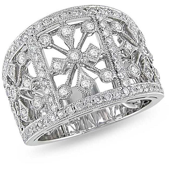 18k White Gold 1ct TDW Diamond Ring (G-H, I1)