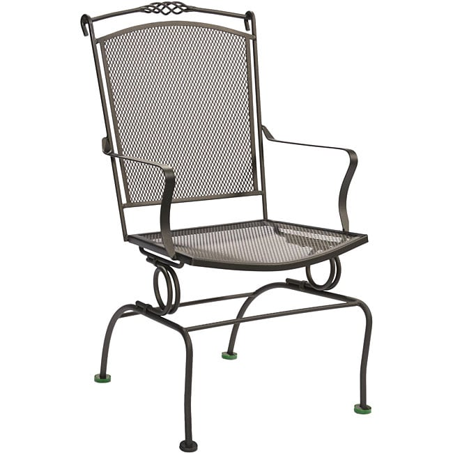 Ava Outdoor Spring Action Dining Chairs Set Of 2