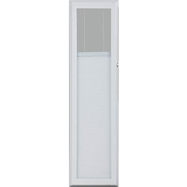 Odl White 36 Inch Enclosed Door Side Lights Cellular Shade
