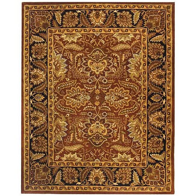 Safavieh Handmade Classic Jaipur Rust/ Black Wool Rug (9'6 x 13'6)