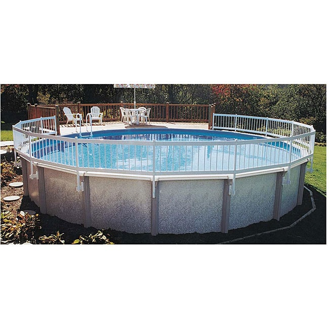 Above ground pool 24 inch base a fence kit 12667987 for Above ground swimming pools for sale near me