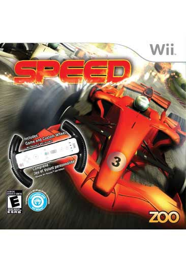 Wii - Speed with Racing Wheel - By Zoo Games