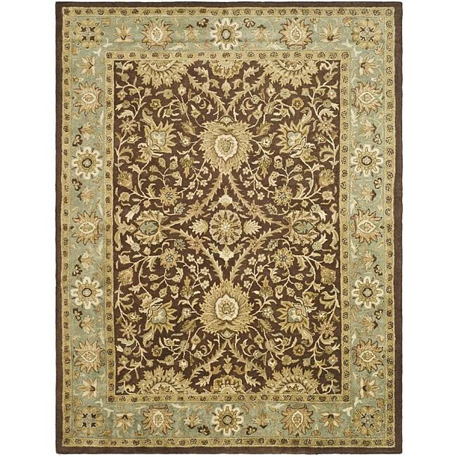 Safavieh Handmade Kerman Chocolate/ Gold Wool Rug (9'6 x 13'6)
