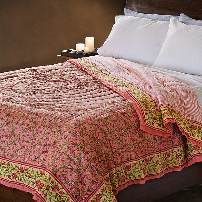 Cotton Reversible Puspa Queen-size Comforter (India)