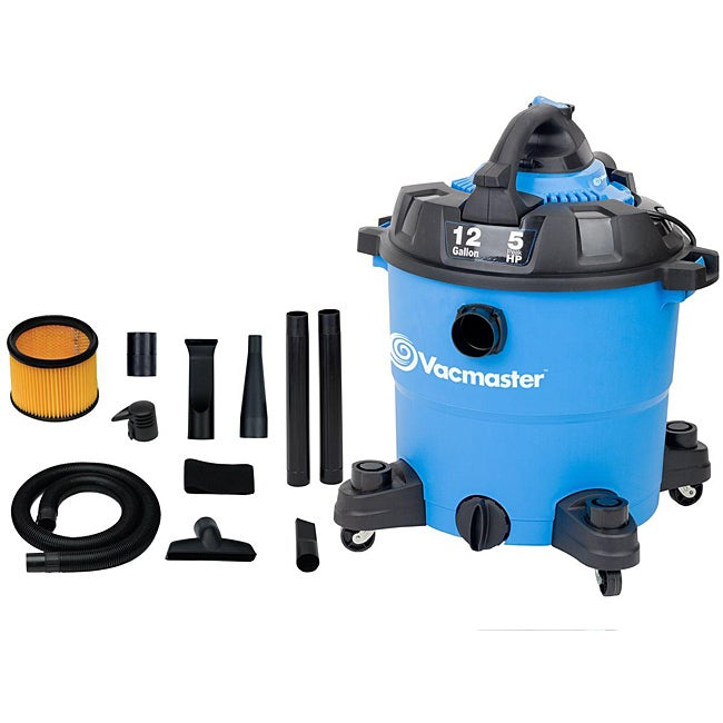 Vacmaster 12-gallon Detachable Blower Wet and Dry Vacuum