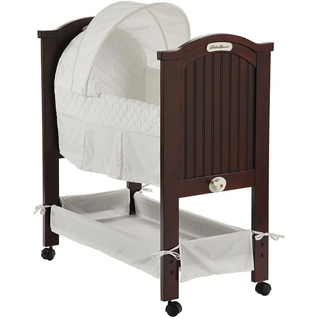 Eddie Bauer Classic White on White Rocking Bassinet  Overstock