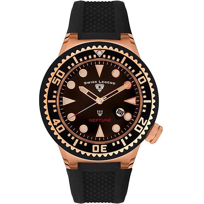 Swiss Legend Men's SL-21818D-RG-01 Neptune Black Watch