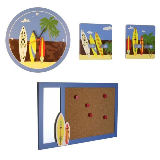 4 Piece Giolla Wall Decor Set : Surfing piece wall decor set  overstock