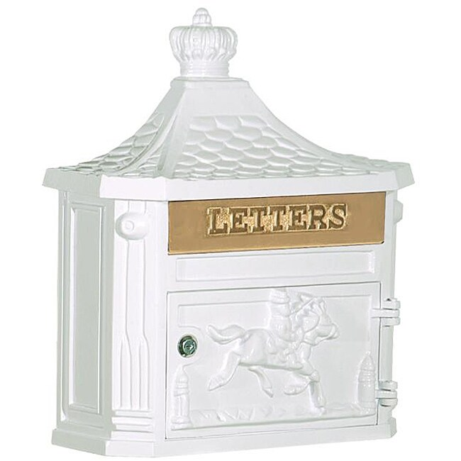 Victorian Wall-mounted White Mailbox