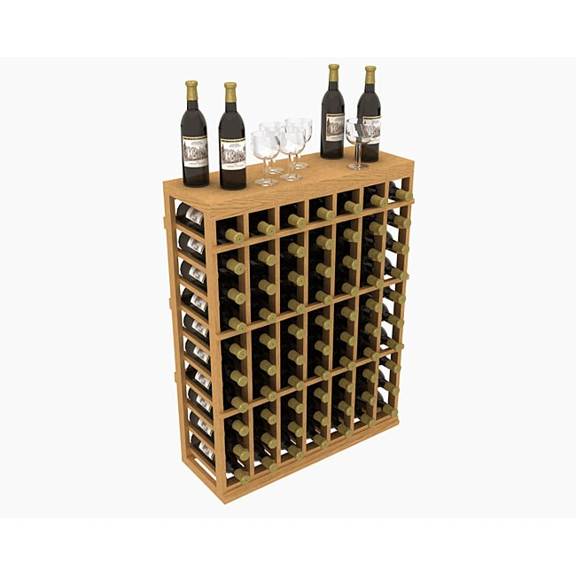 WholeCellar Individual 70-bottle Half Wine Rack with Table Top