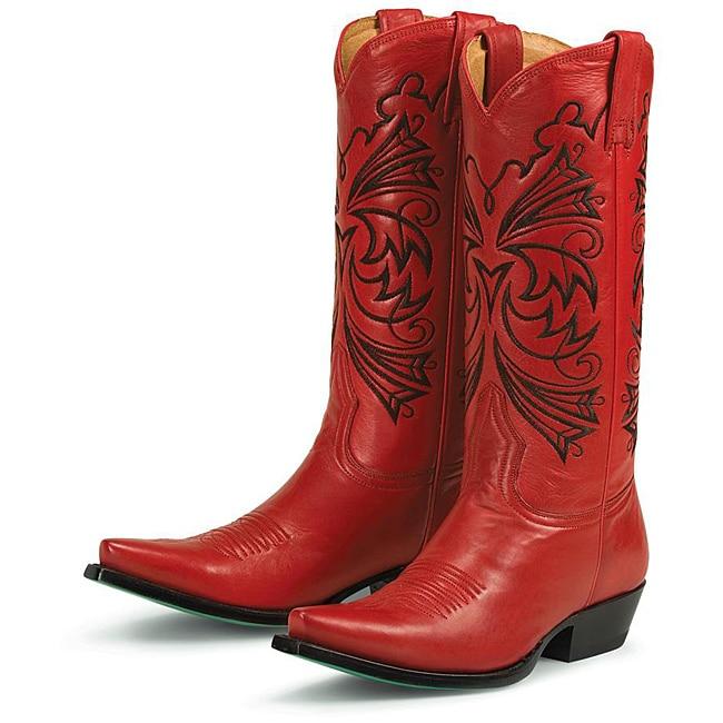 Excellent Good Closet VINTAGE RED LIZARD COWBOY BOOTS WOMENS SIZE 7.5