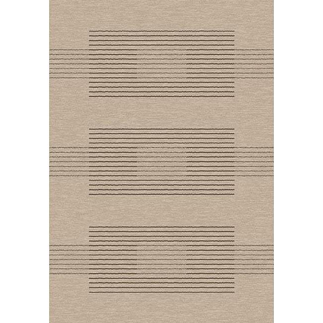 Velvet Linen Stripe Rug (5'3 x 7'7)