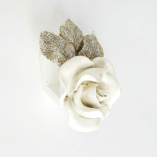 Wood Collection Rose Drapery Sconce