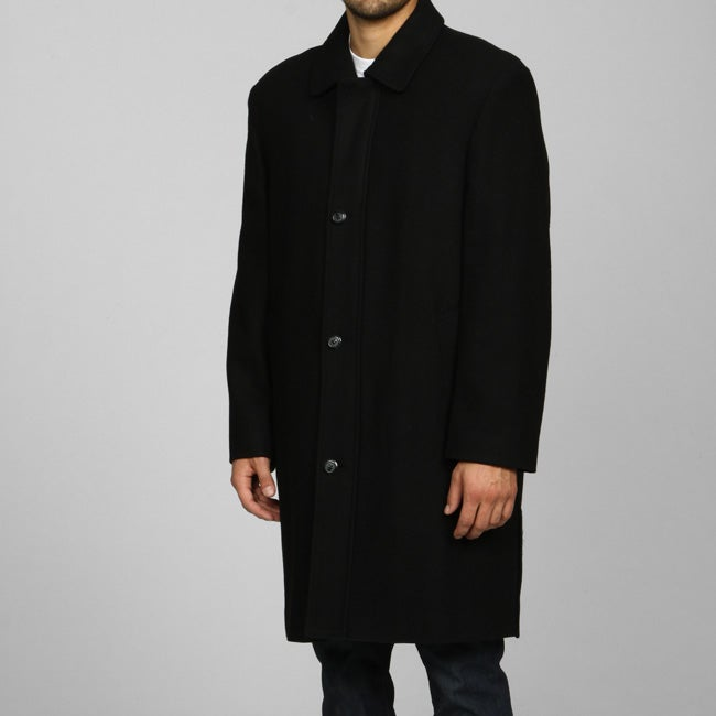 Cianni Cellini Men's Wool Blend Water-repellent Coat