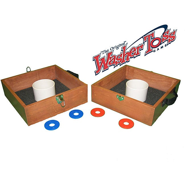 The Original Washer Toss Outdoor Game with Washers and Bean Bags