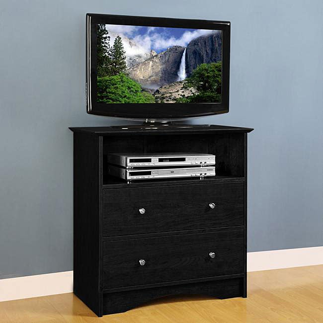 montego black wood bedroom entertainment center 12718519 shopping great. Black Bedroom Furniture Sets. Home Design Ideas