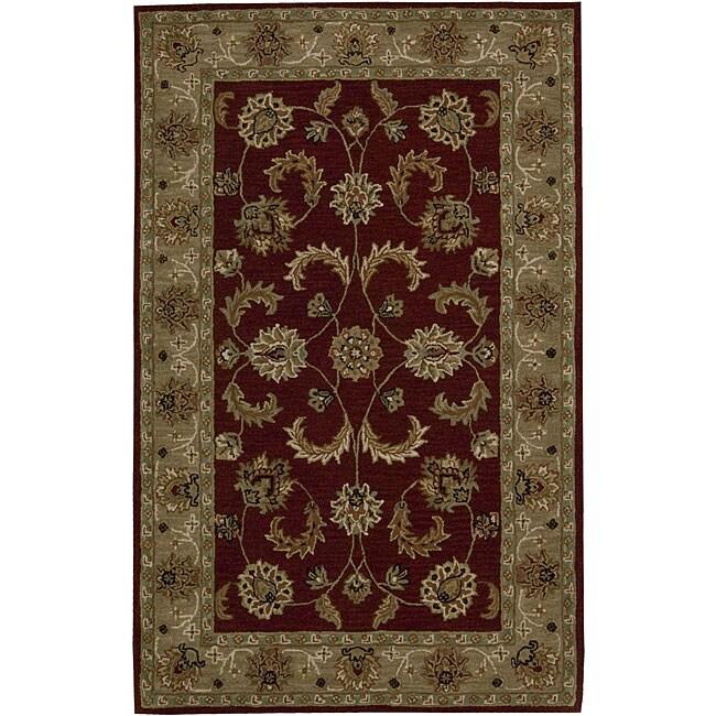 Nourison Hand-tufted Caspian Red Wool Rug (8' x 10'6)