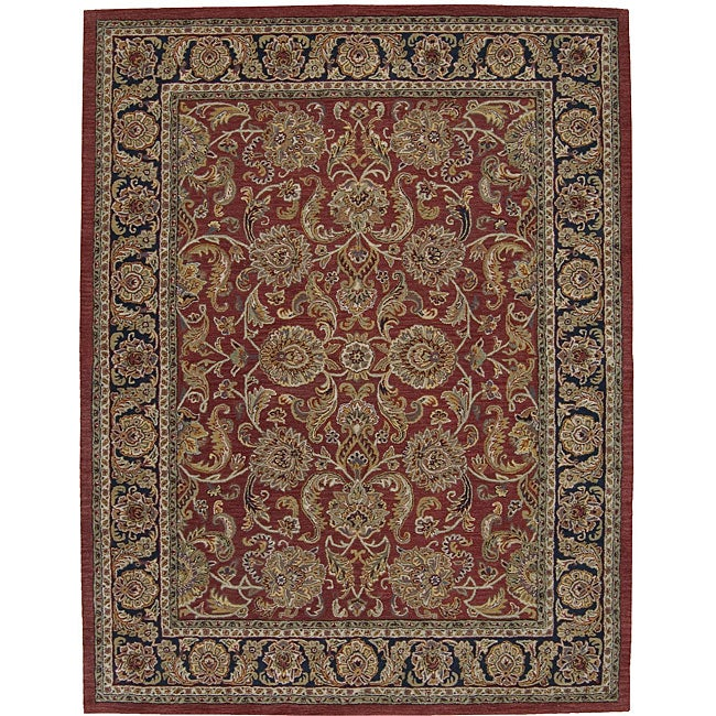 Nourison Hand-tufted Caspian Rust Wool Rug (8' x 10'6)